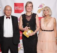 Ruth Poar, Eat My Logo, Winner of the Family Business category, pictured with Alan Fox of The Fox Group and Michelle Thompson of Unique Homecare Services