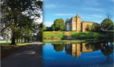 image of Astley Park showing the Hall, the lake and woodlands